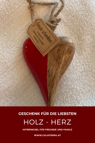 Romantisches Holz-Herz mit Aufhängekordel | 10cm | handgemacht |