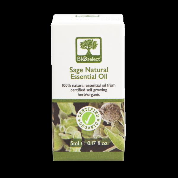 Salbei - biozertifiziertes, natürliches, essentielles ätherisches Öl