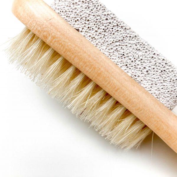 Bürste mit Bimstein und Aufhängekordel für Dusche & Bad