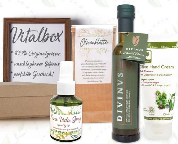 Vitalbox | LIMITED EDITION | BIOselect® | Divinus | Botano | Calmterra | 100% Originalgrößen