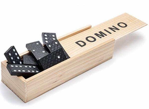 Dominosteine in Holzbox für Kinder ab 3 Jahren