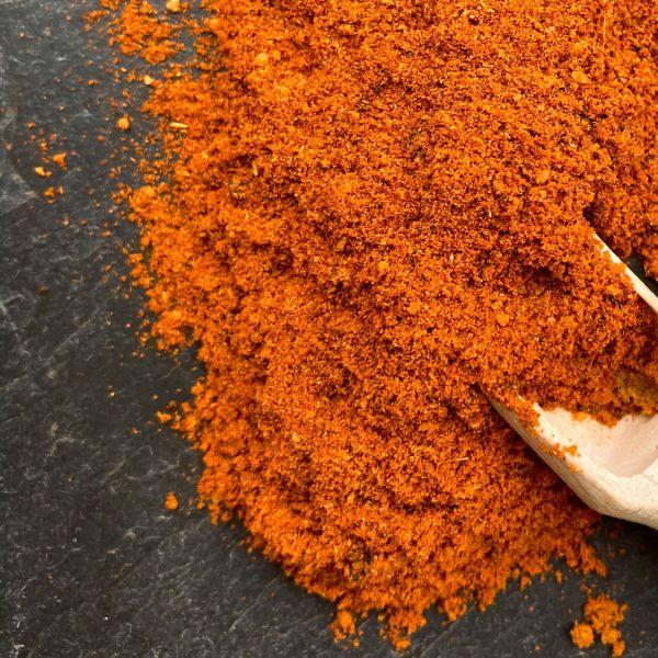 Espresso-Chili Grill-Gewürzmischung 100g mit kleiner Dosierschaufel aus Holz