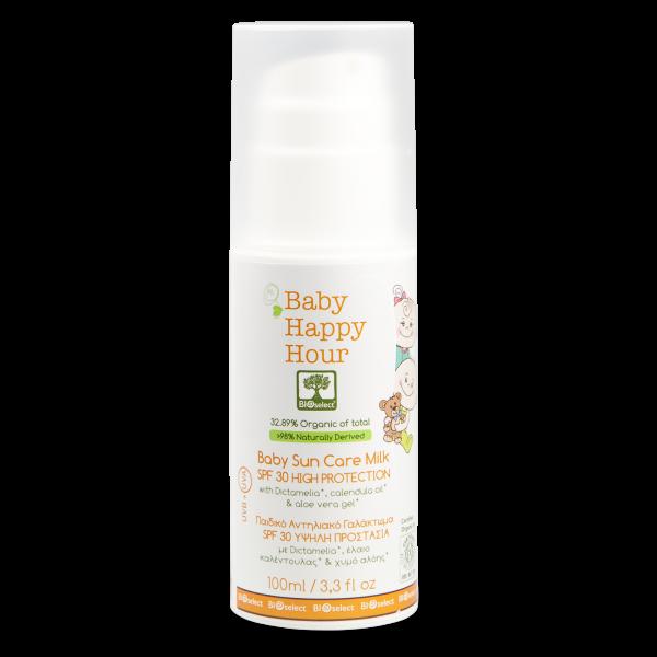 Happy Hour - Biosonnenschutzmilch hoher Schutz SPF30 für Kinder und Babys