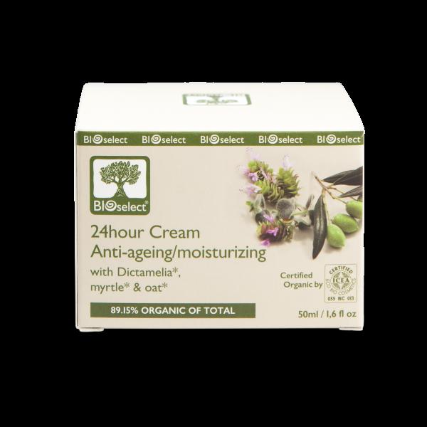 Biozertifizierte,feuchtigkeitsspendende 24-Stunden Anti-Aging Creme