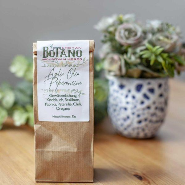 Botano - Gewürzmischung Aglio Olio Peperonico | mit kleiner Dosierschaufel aus Holz