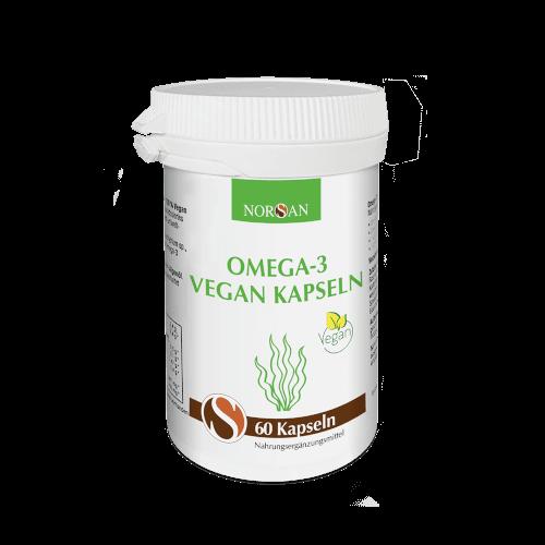 Norsan Omega-3 aus Algen | Pflanzliches Omega-3 | 100% vegan | Kapseln | 60 Stk.