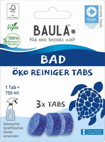Biobaula ® 3x Bad Öko-Tab | biologisch abbaubar |