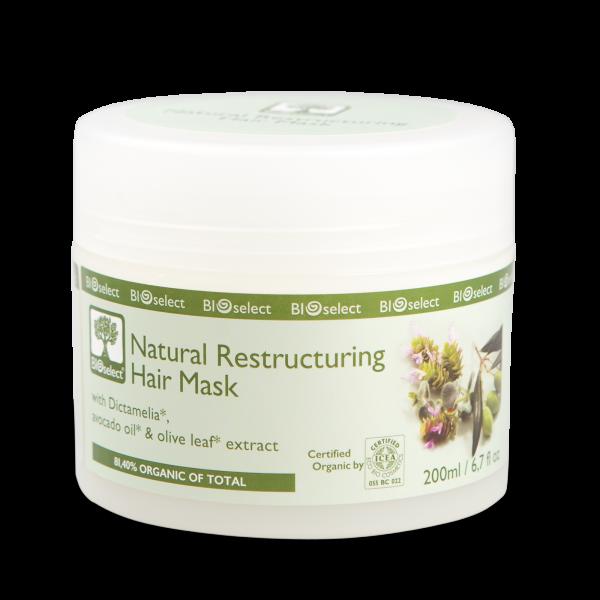 Natürliche restrukturierende Haarmaske