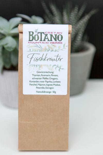 Botano - Gewürzmischung Fischkräuter | mit kleiner Dosierschaufel aus Holz
