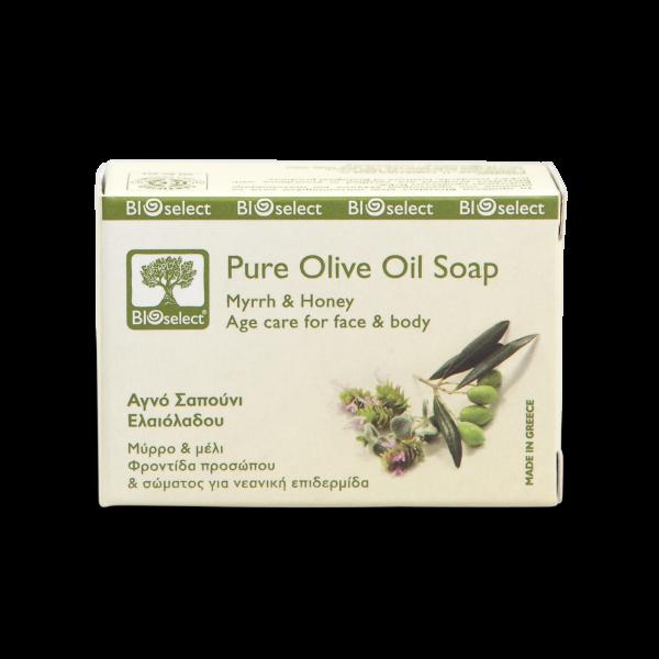 Biologische Seife mit Myrrhe und Honig - Anti-Aging Pflege für Gesicht & Körper