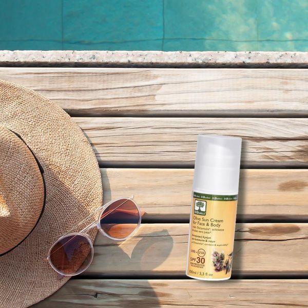 Sonnencreme für Gesicht und Körper mit SPF 30 Bio-Aloe Vera für alle Hauttypen