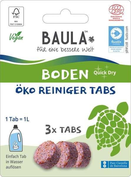 Biobaula ® 3x Bodenreiniger Öko-Tab | biologisch abbaubar |