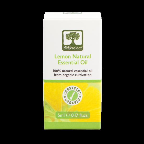 Zitrone - biozertifiziertes, natürliches, essentielles ätherisches Öl