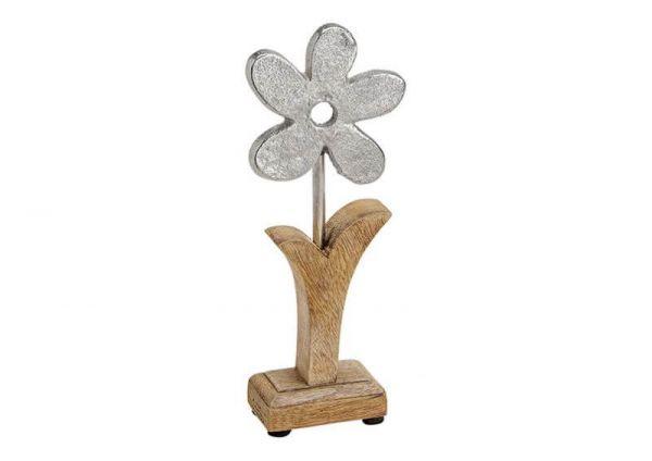 Blume | Metall l Holz | 22cm hoch