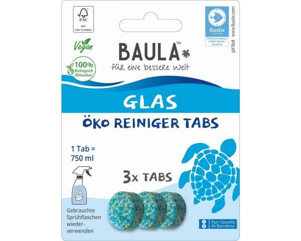 Biobaula ® 3x Glasreiniger Öko-Tab | biologisch abbaubar |