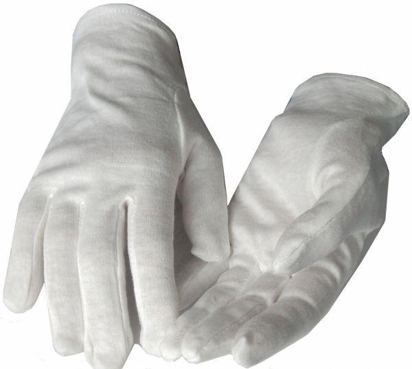 Weiße Baumwollhandschuhe | auch für Kinder | Schutz gg. nächtliches Kratzen | schadstoffgeprüft
