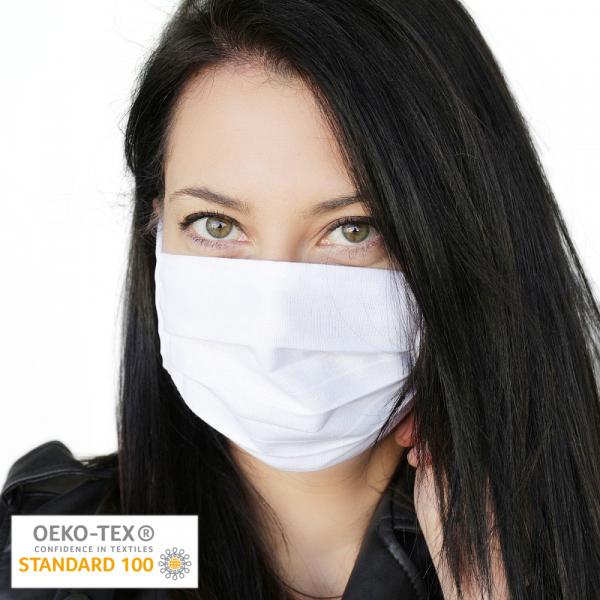 Wiederverwendbare Mund-Nasen-Maske aus 100% Baumwolle | OEKOTEX zertifiziert