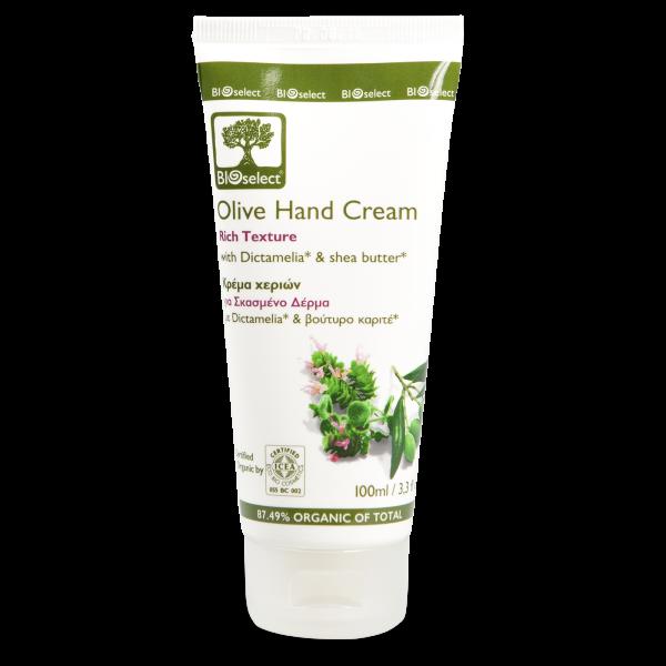 Biozertifizierte, reichhaltige Olivenöl Handcreme für trockene Hände 100ml