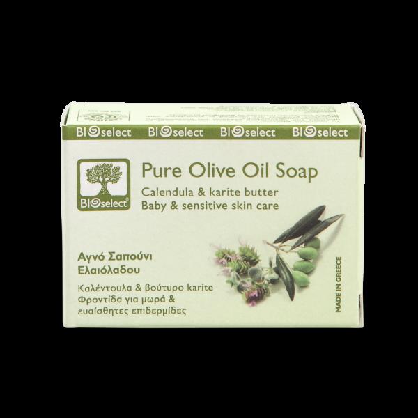 Biologische, sanft reinigende Seife mit Calendula und Karitebutter für Babys & empfindliche Haut