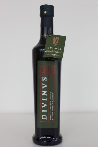 Divinus - hochpolyphenolisches extra natives Olivenöl | 500ml Standard Glasflasche - NEUE ERNTE 2020