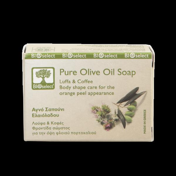 Biologische Seife mit Luffa und Kaffee - Anti Cellulite Pflege gegen Orangenhaut